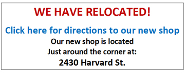 We've Moved to 2430 Harvard Street